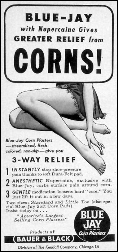 BLUE JAY CORN PLASTERS WOMAN'S DAY 09/01/1946 p. 83
