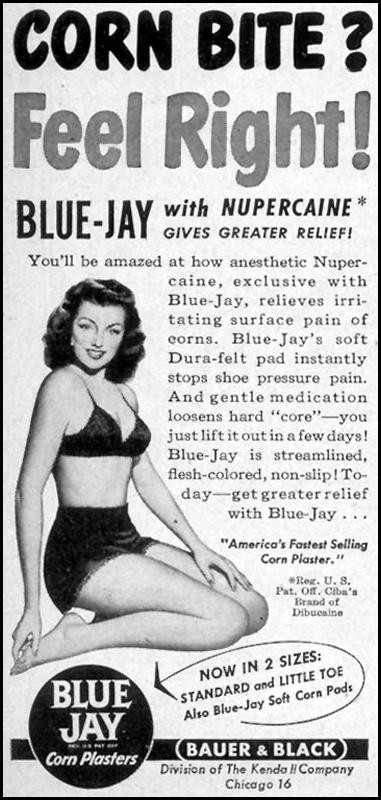BLUE JAY CORN PLASTERS WOMAN'S DAY 09/01/1947 p. 100