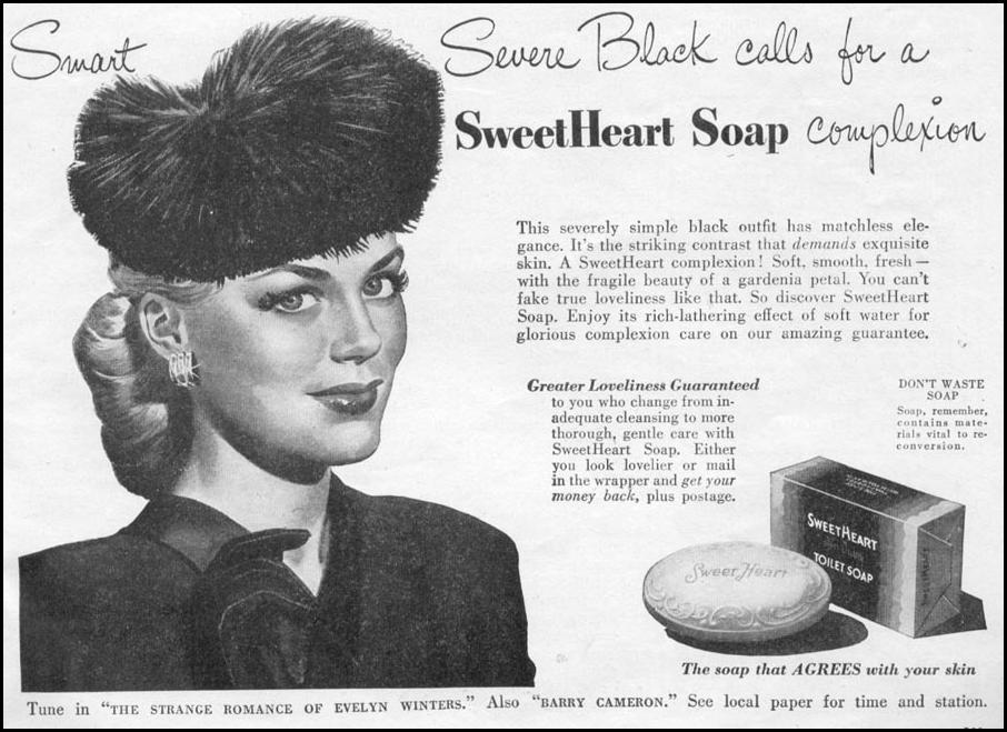 SWEETHEART TOILET SOAP WOMAN'S DAY 11/01/1945 p. 103