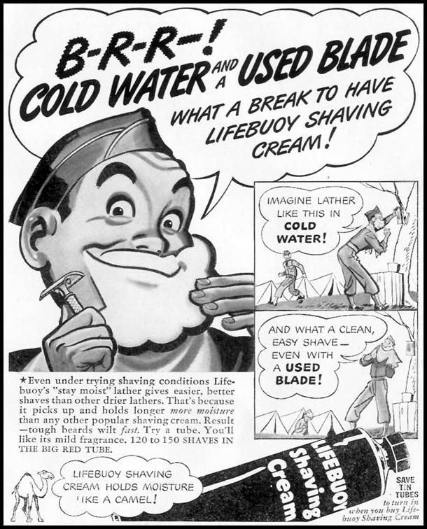 LIFEBUOY SHAVING CREAM LIFE 01/18/1943 p. 67