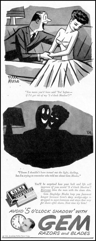 GEM MICROMATIC RAZOR AND BLADES LIFE 02/21/1944 p. 11