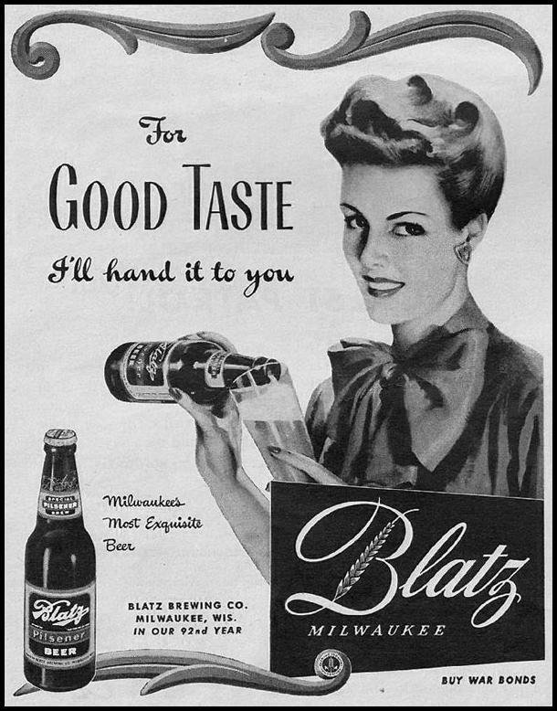 BLATZ BEER LIFE 10/11/1943 p. 22
