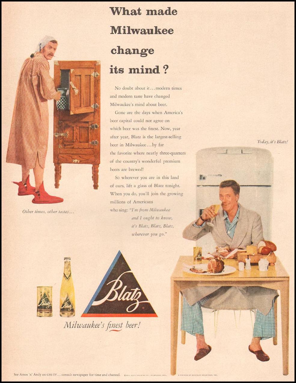 BLATZ BEER LIFE 10/13/1952 p. 167