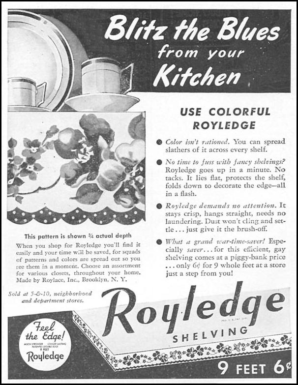 ROYLEDGE SHELVING WOMAN'S DAY 04/01/1943 p. 59