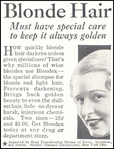 BLONDEX GOOD HOUSEKEEPING 11/01/1933 p. 211