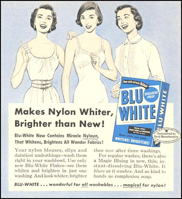 BLU-WHITE LAUNDRY DETERGENT WOMAN'S DAY 04/01/1956 p. 113