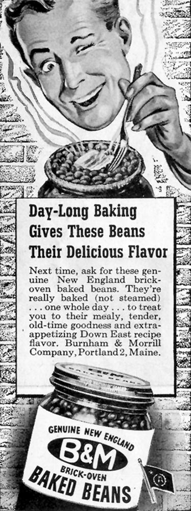 B & M BAKED BEANS SATURDAY EVENING POST 10/06/1945 p. 110