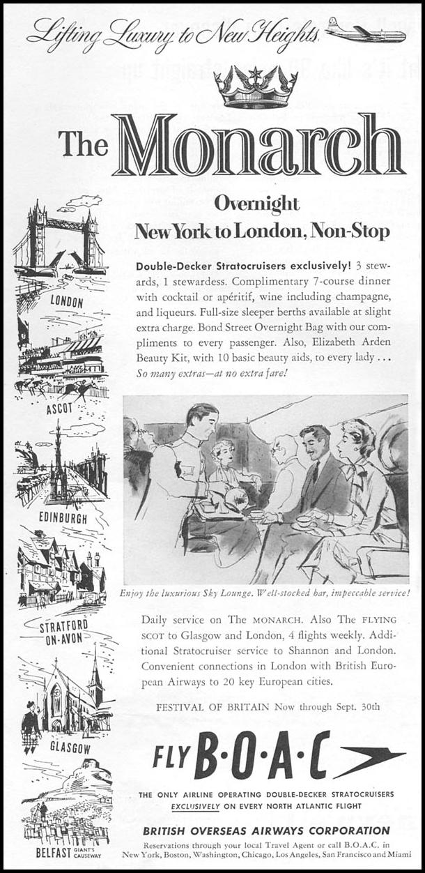 AIR TRAVEL NEWSWEEK 06/11/1951 p. 94