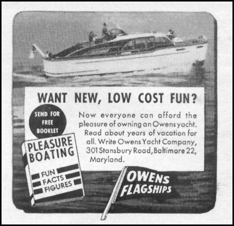 OWENS PLEASURE BOATS LIFE 06/05/1950 p. 70