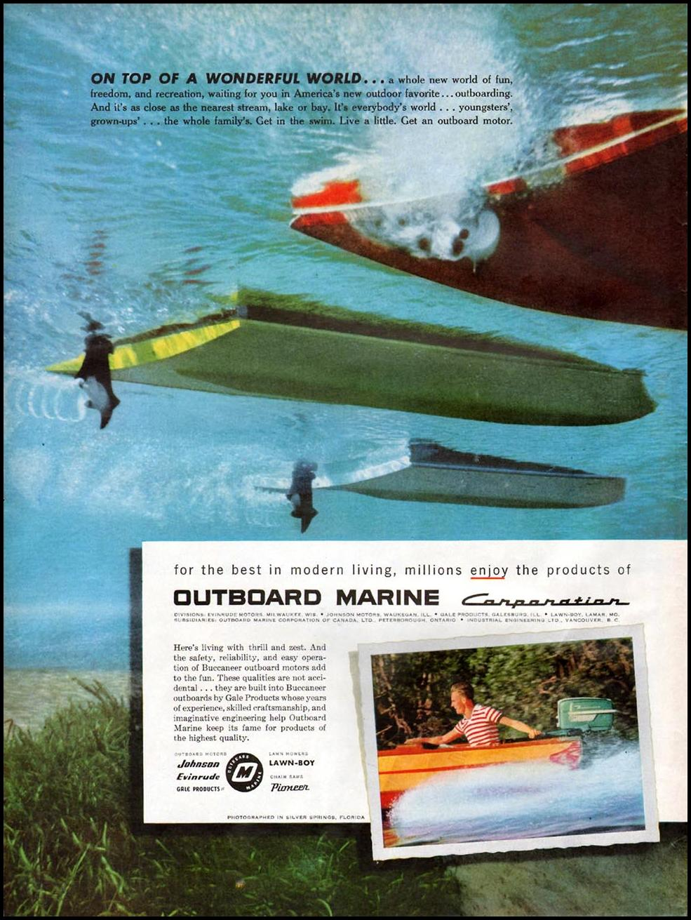 JOHNSON OUTBOARD MOTORS LIFE 07/01/1957 p. 112