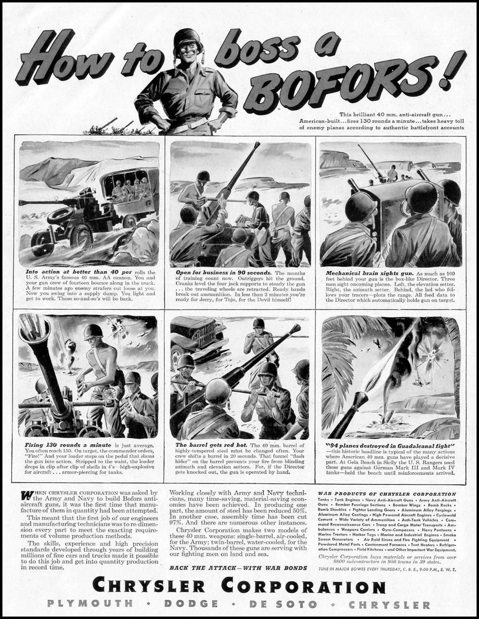 CHRYSLER WAR PRODUCTION LIFE 11/08/1943 p. 12