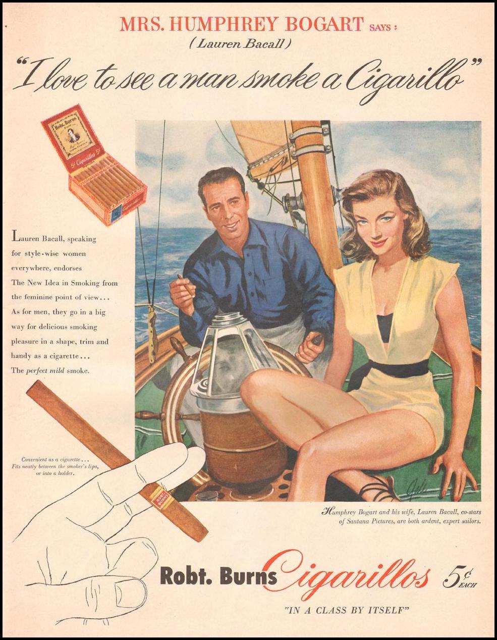 ROBT. BURNS CIGARILLOS LIFE 09/03/1951 p. 57