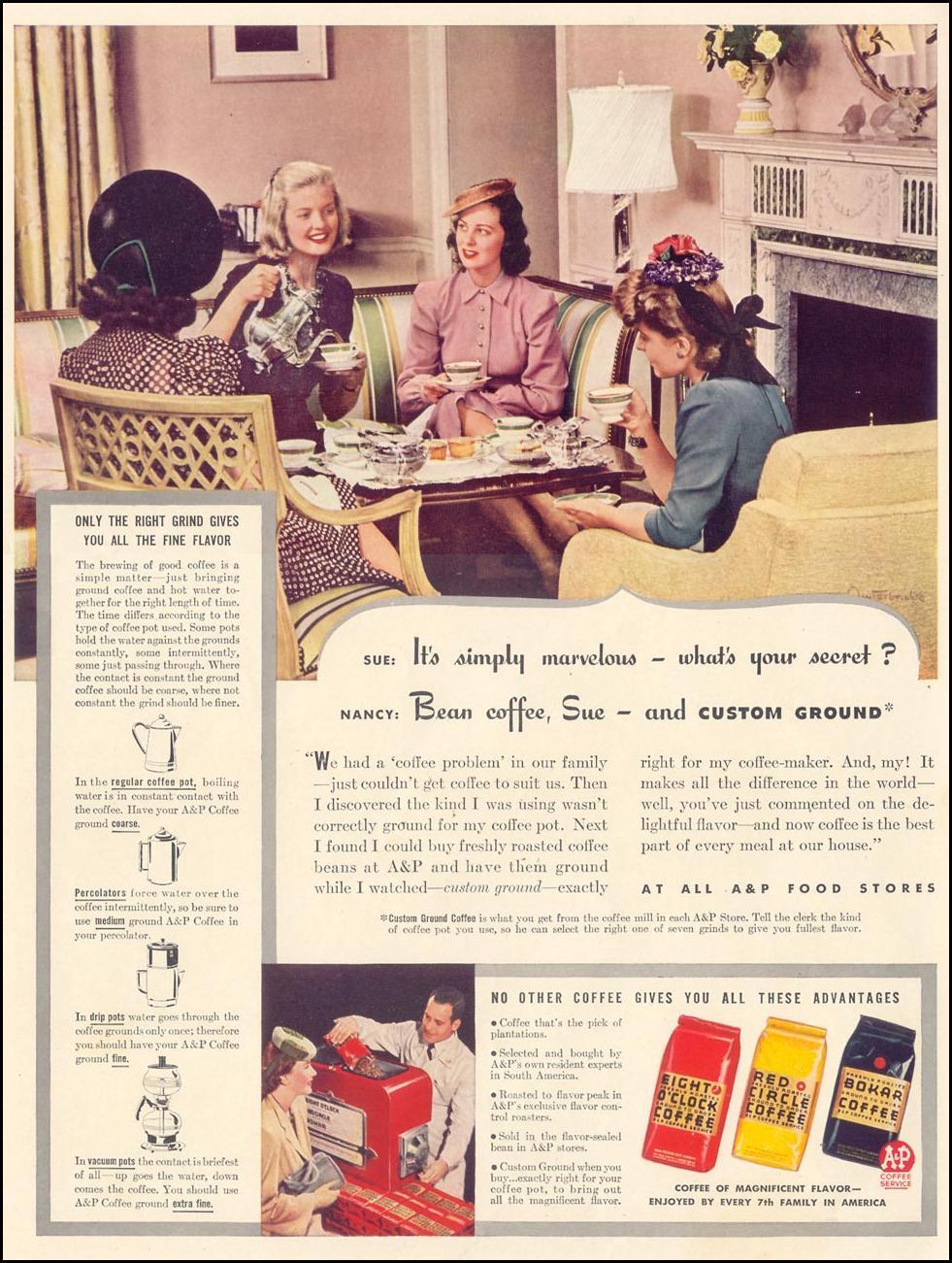 BOKAR COFFEE LIFE 09/30/1940