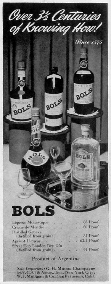 BOLS LIQUEURS LIFE 11/08/1943 p. 92