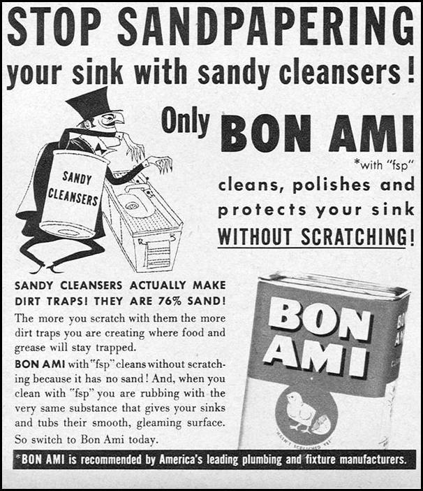 BON AMI CLEANSER FAMILY CIRCLE 02/01/1956 p. 48