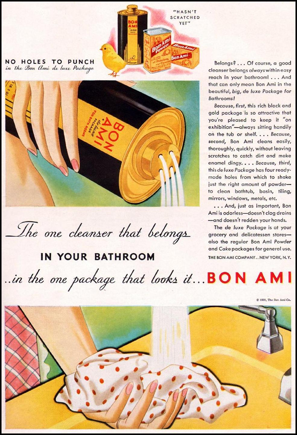 BON AMI BETTER HOMES AND GARDENS 03/01/1932 INSIDE BACK