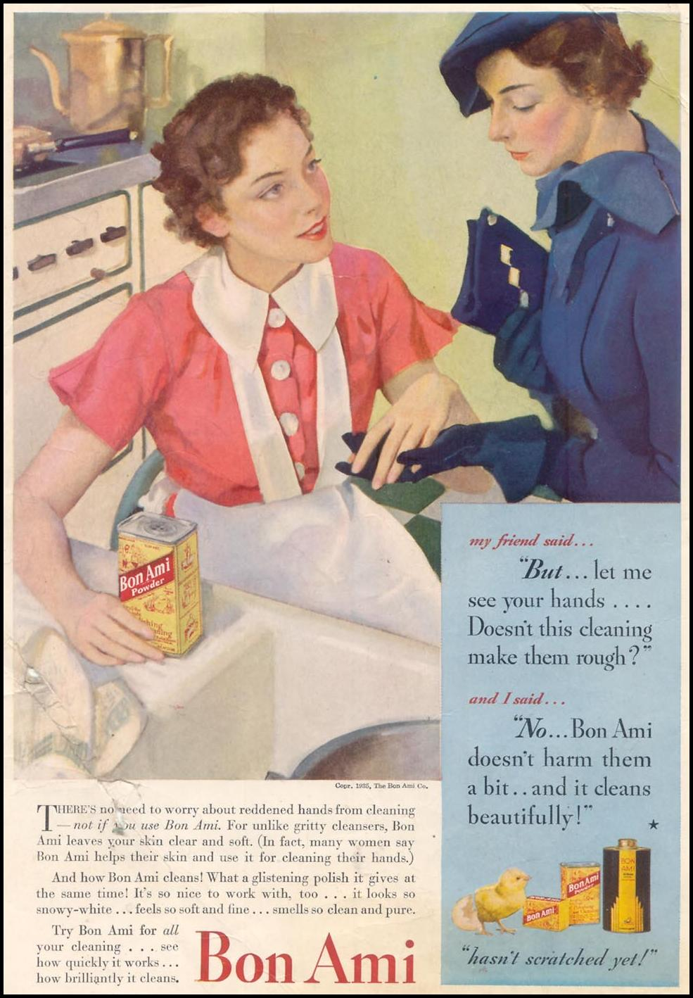 BON AMI CLEANSER GOOD HOUSEKEEPING 03/01/1935 INSIDE FRONT