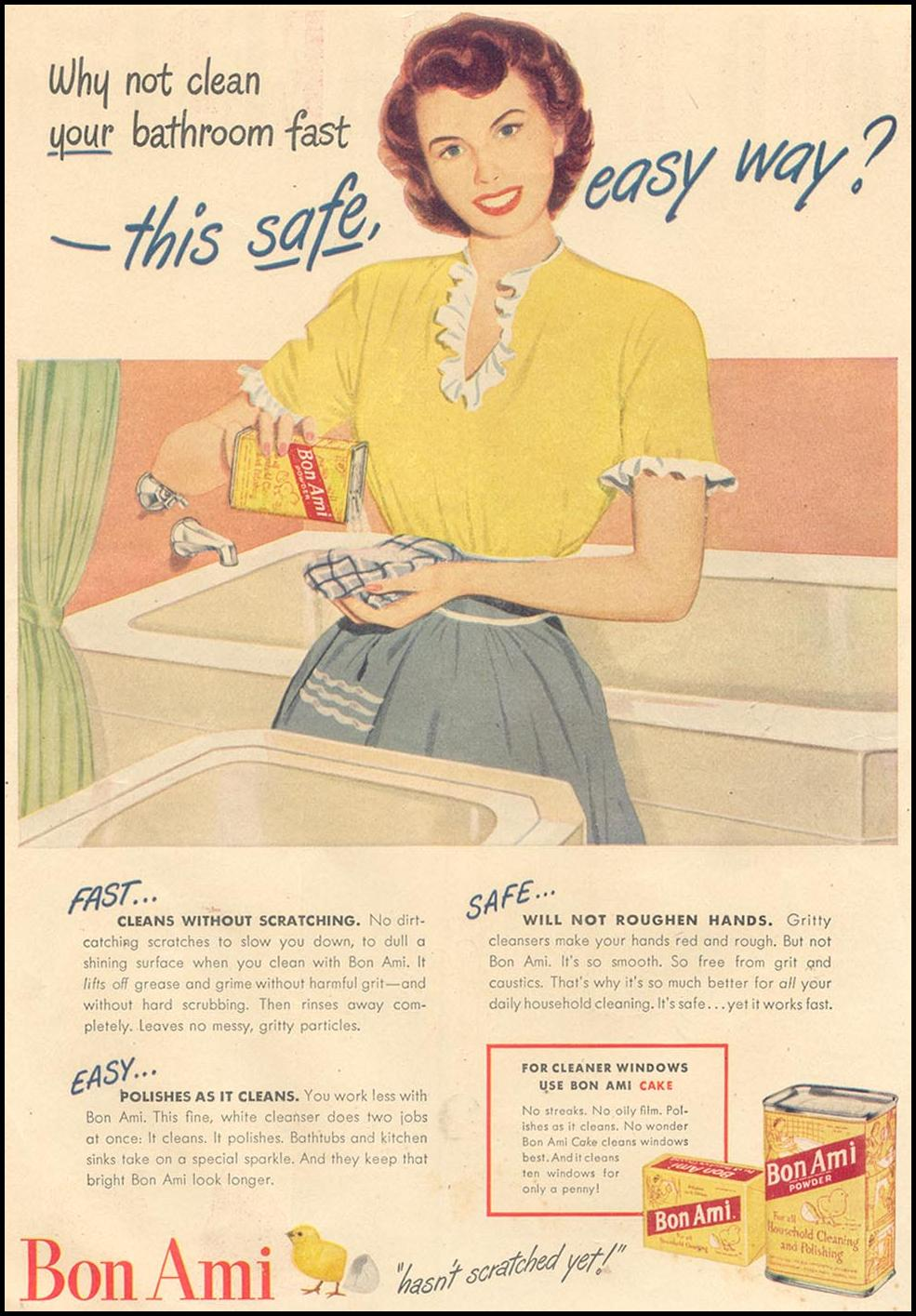 BON AMI CLEANSER GOOD HOUSEKEEPING 07/01/1948 INSIDE FRONT