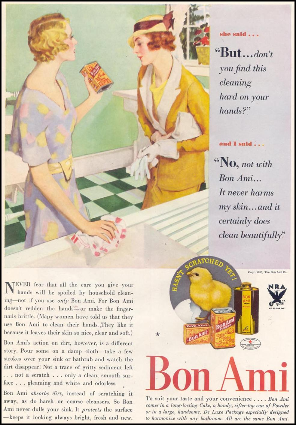 BON AMI CLEANSER GOOD HOUSEKEEPING 11/01/1933