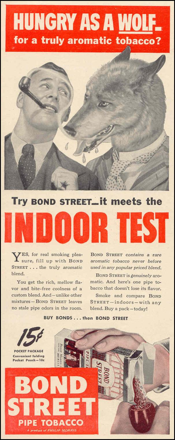 BOND STREET PIPE TOBACCO LIFE 02/14/1944 p. 114