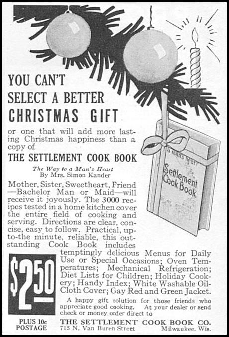 THE SETTLEMENT COOK BOOK GOOD HOUSEKEEPING 12/01/1933 p. 184