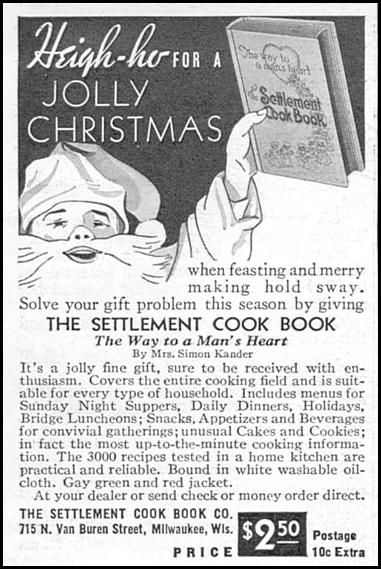 THE SETTLEMENT COOK BOOK GOOD HOUSEKEEPING 12/01/1934 p. 199