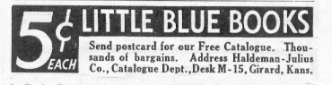 LITTLE BLUE BOOKS NEWSWEEK 05/04/1935 p. 37