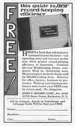 BOOKKEEPING FORMS NEWSWEEK 05/04/1935 p. 38
