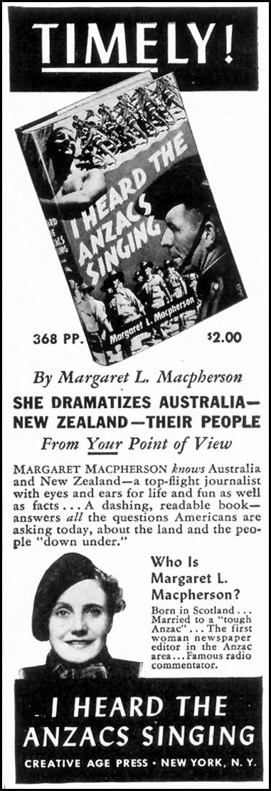 I HEARD THE ANZACS SINGING TIME 06/15/1942 p. 82