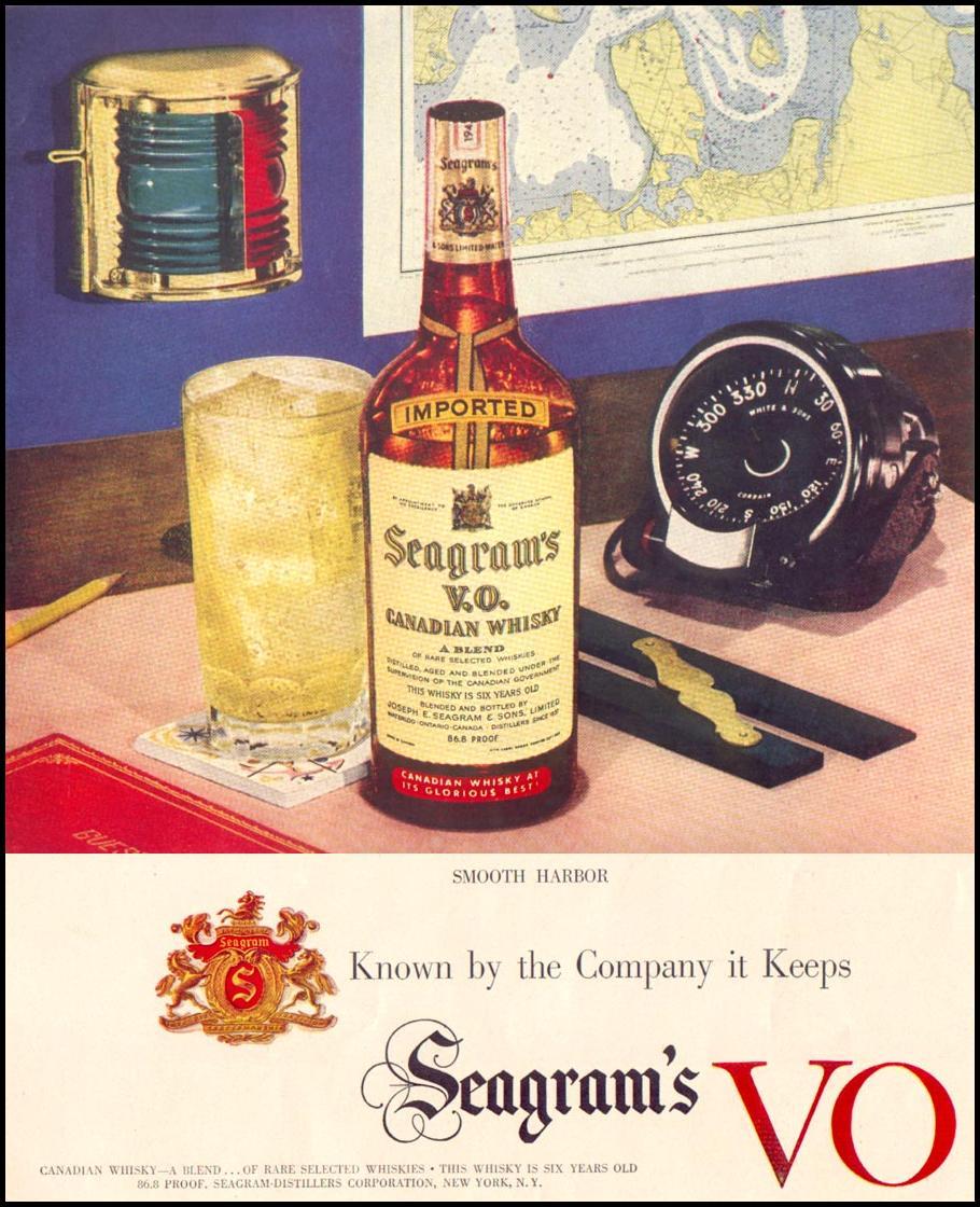SEAGRAM'S V.O. CANADIAN WHISKY LIFE 01/21/1952 p. 44