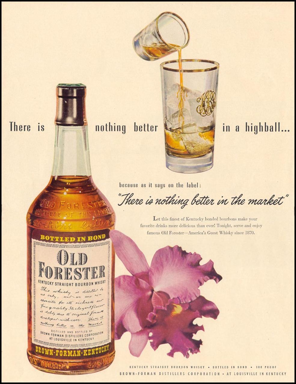 OLD FORESTER BOURBON LIFE 01/21/1952 p. 52