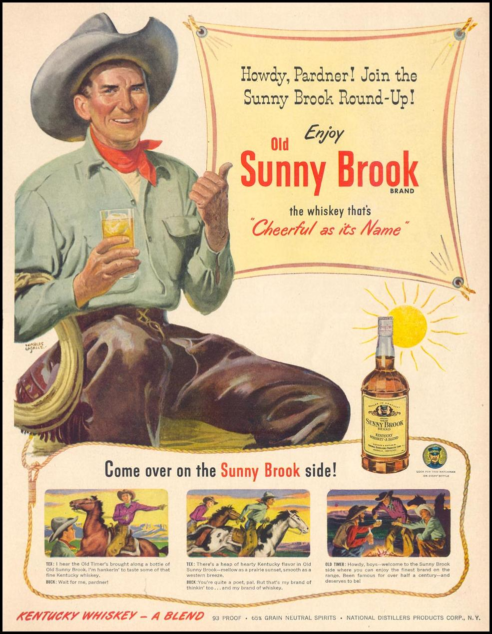 OLD SUNNY BROOK KENTUCKY WHISKEY LIFE 04/17/1950 p. 111