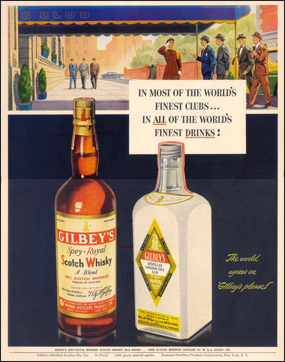 GILBEY'S SPEY-ROYAL SCOTCH & DISTILLED LONDON DRY GIN