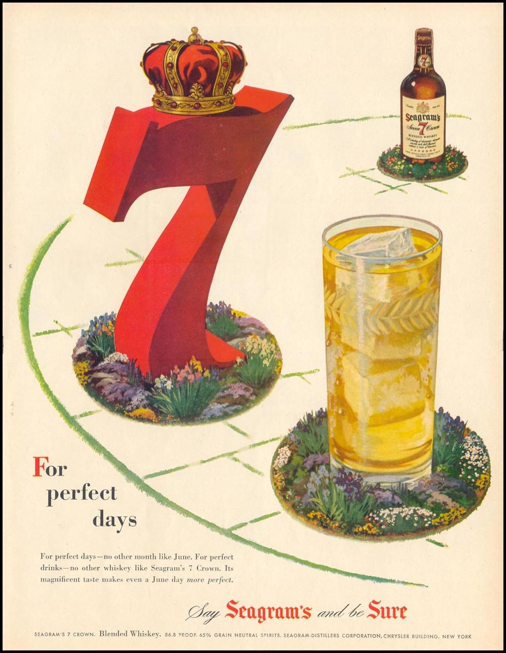 SEAGRAM'S SEVEN CROWN WHSKEY LIFE 06/05/1950 p. 71
