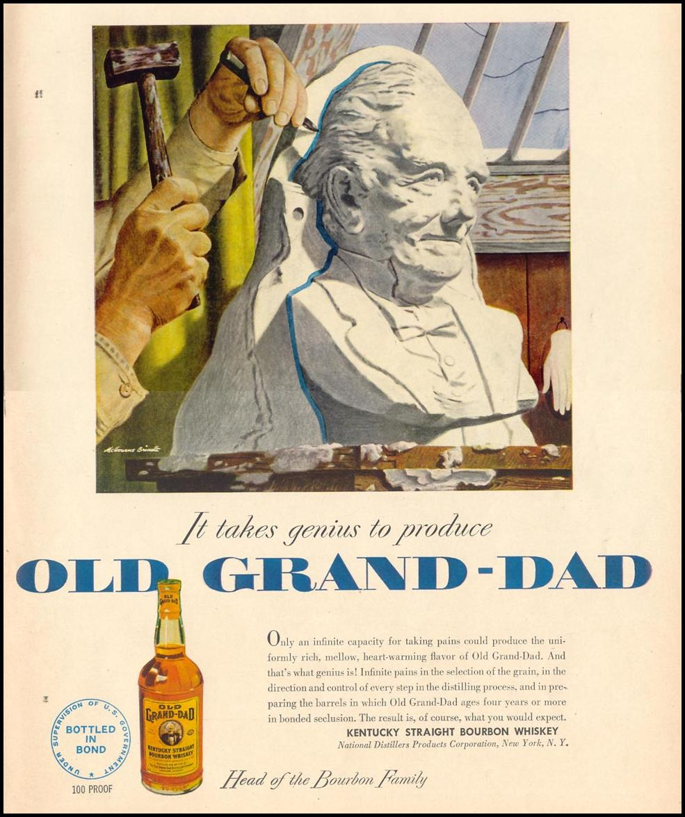 OLD GRAND-DAD BOURBON WHISKEY LIFE 06/05/1950