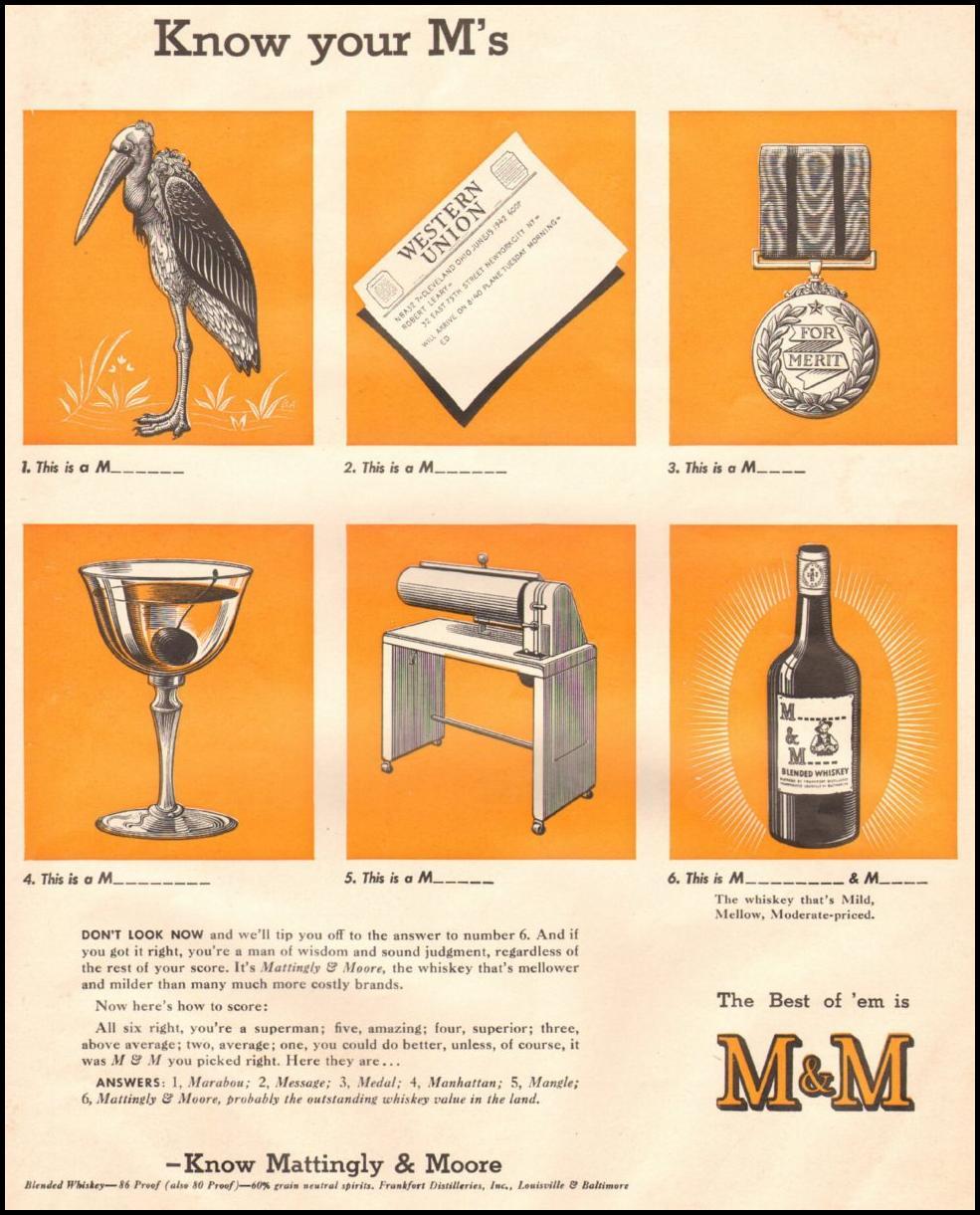 MATTINGLY & MOORE WHISKEY LIFE 06/22/1942 p. 55