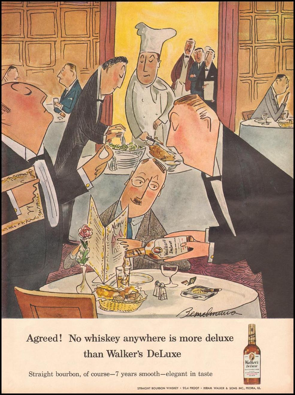 WALKER'S DELUXE BOURBON WHISKEY LIFE 06/24/1957 p. 123