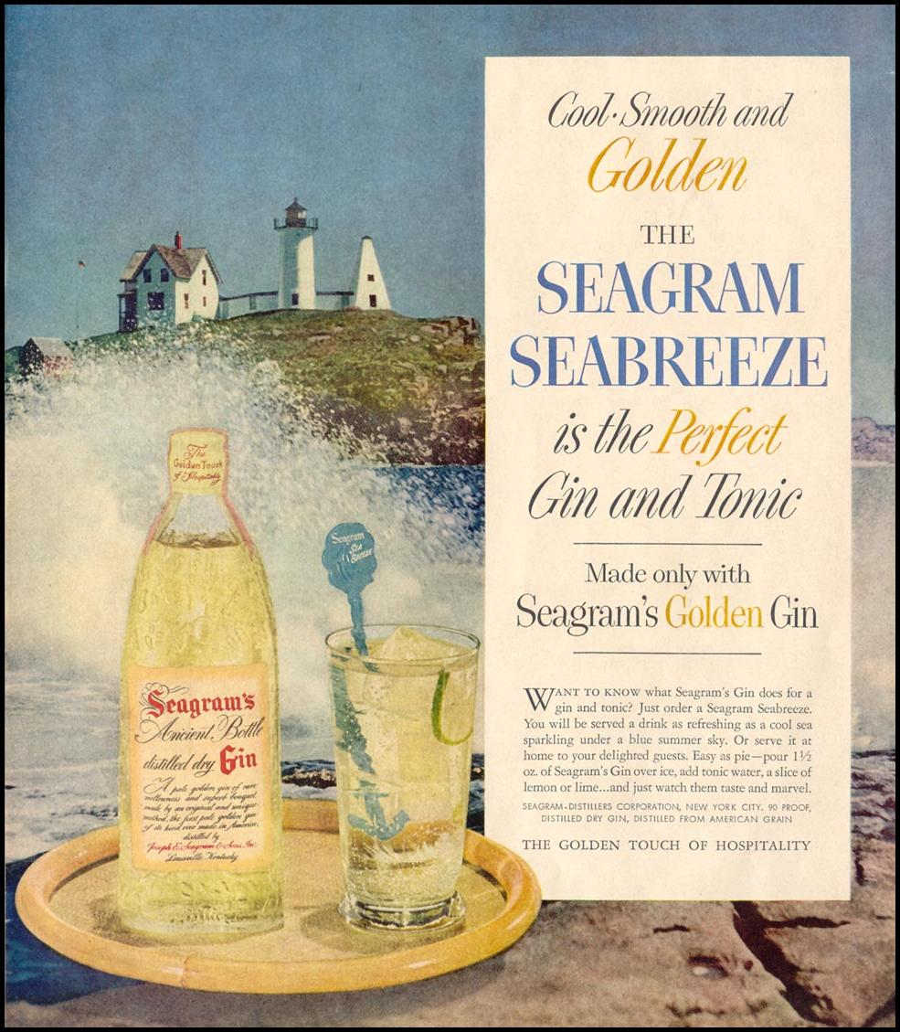SEAGRAM'S GOLDEN GIN LIFE 07/12/1954 p. 84