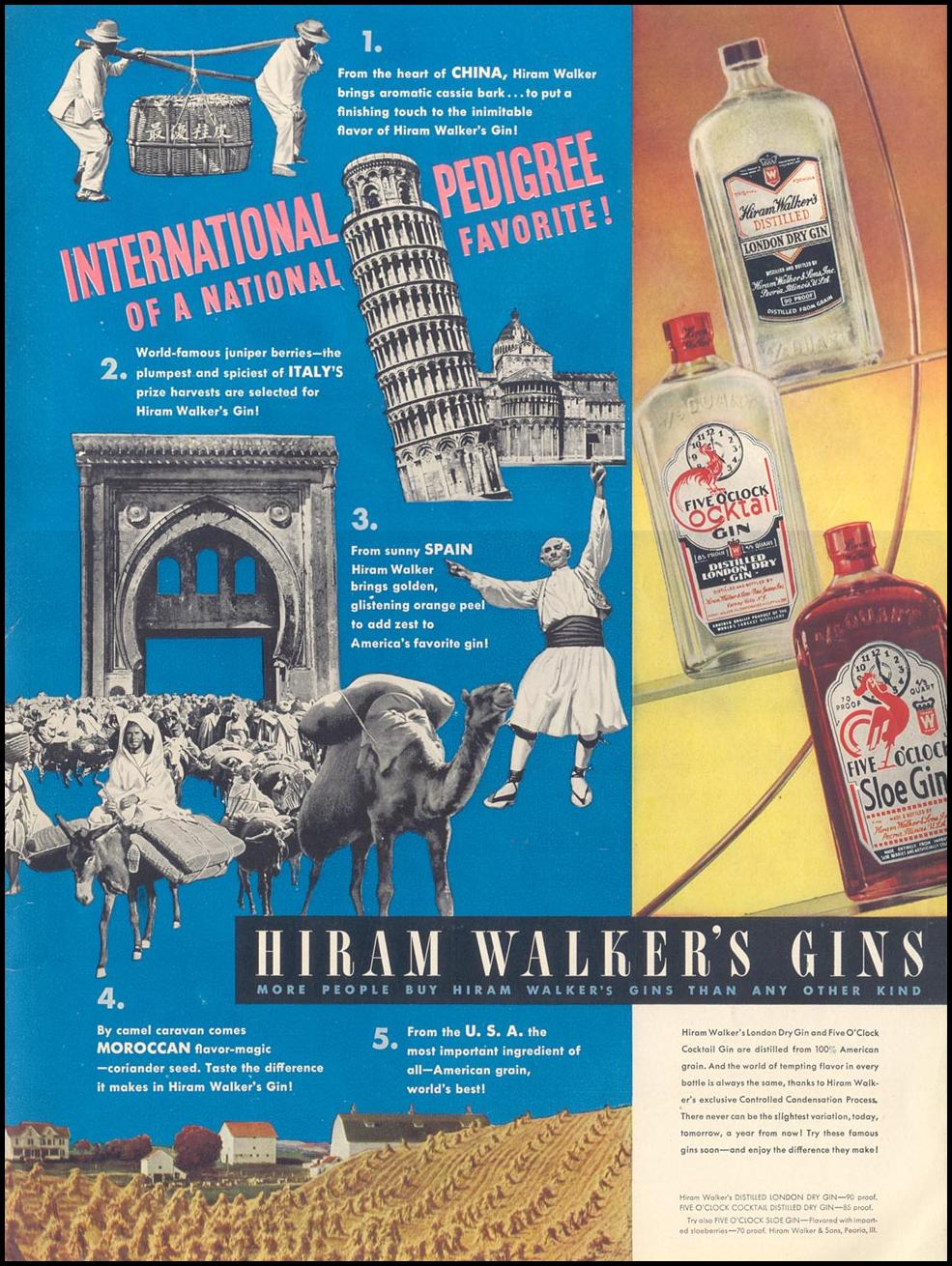 HIRAM WALKER'S GINS LIFE 08/02/1937 INSIDE BACK