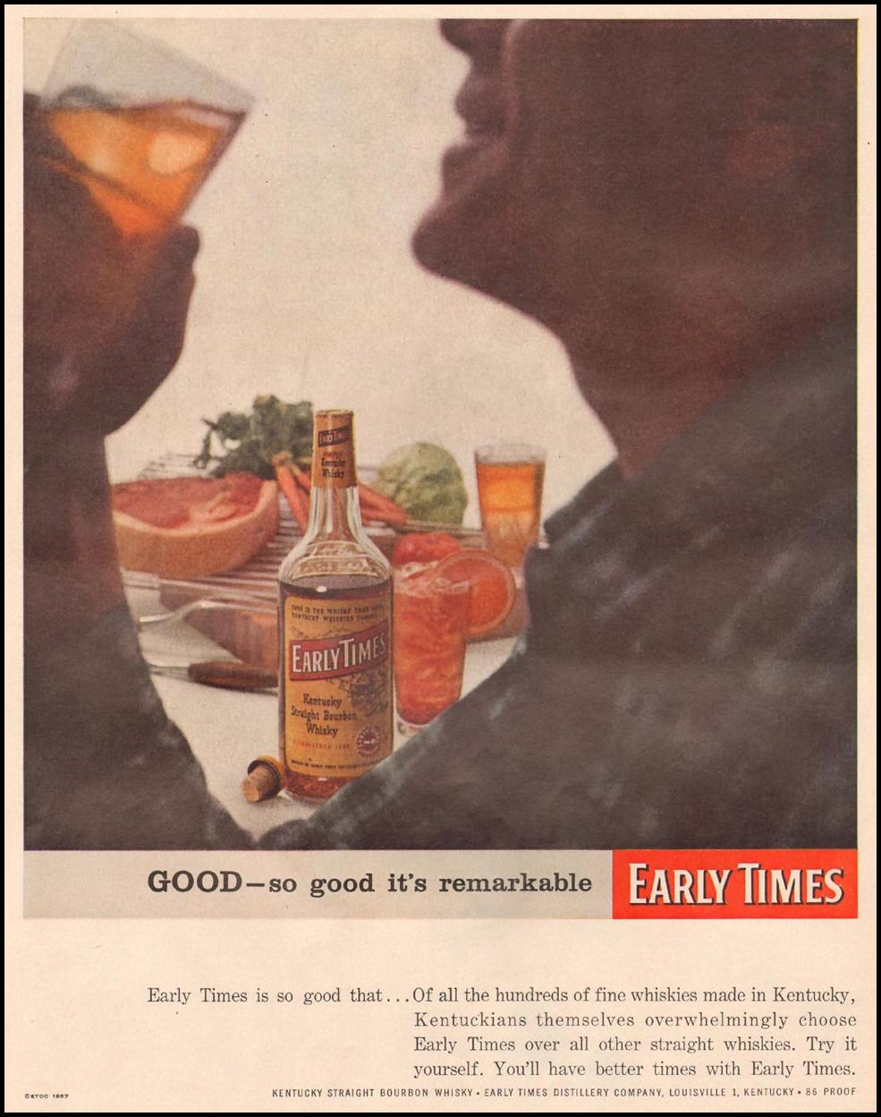 EARLY TIMES BOURBON WHISKEY LIFE 09/09/1957 p. 53