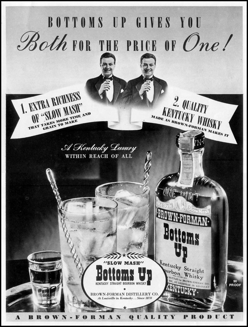 BOTTOMS UP BOURBON LIFE 10/04/1937 p. 73