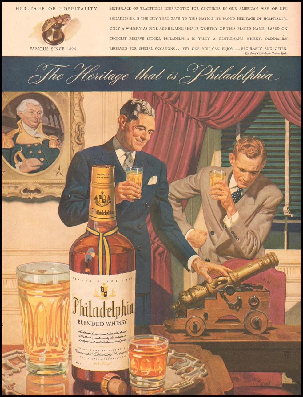 PHILADELPHIA BLENDED WHISKEY LIFE 10/11/1943 p. 23
