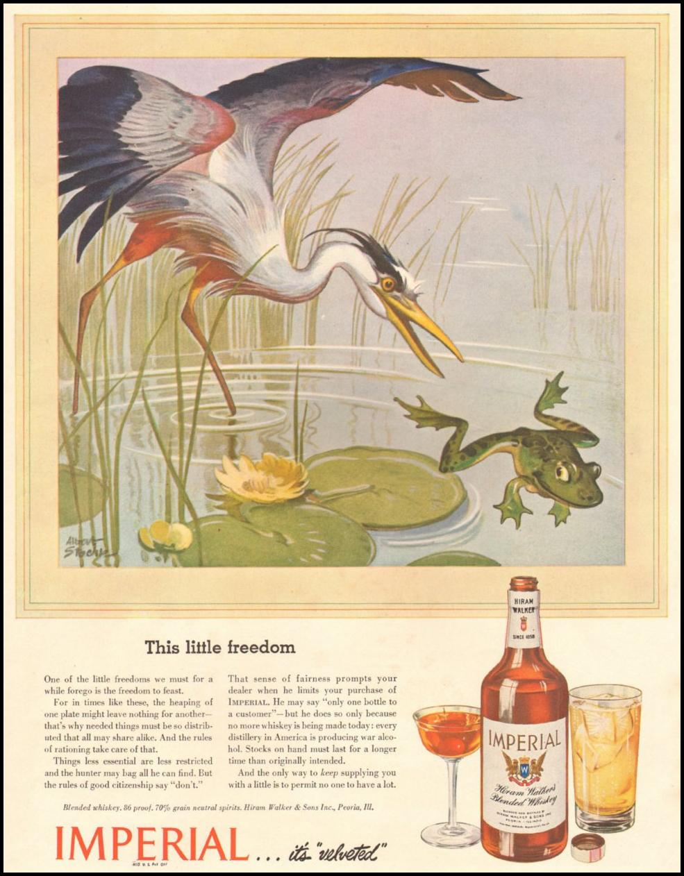 IMPERIAL WHISKEY LIFE 10/25/1943 INSIDE BACK