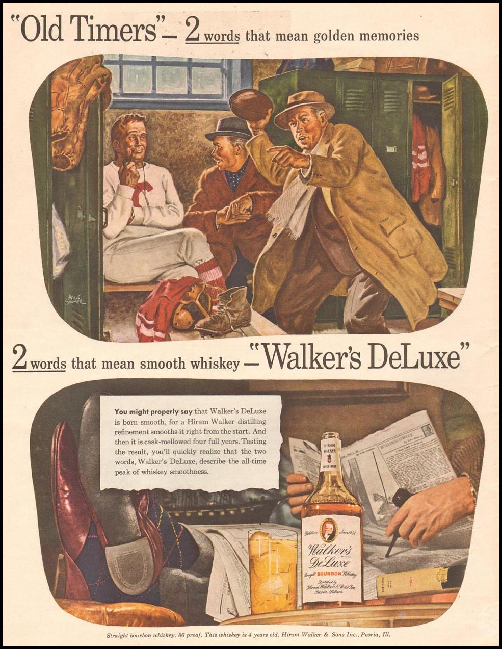 WALKER'S DELUXE STRAIGHT BOURBON WHISKEY LIFE 11/13/1944 p. 120