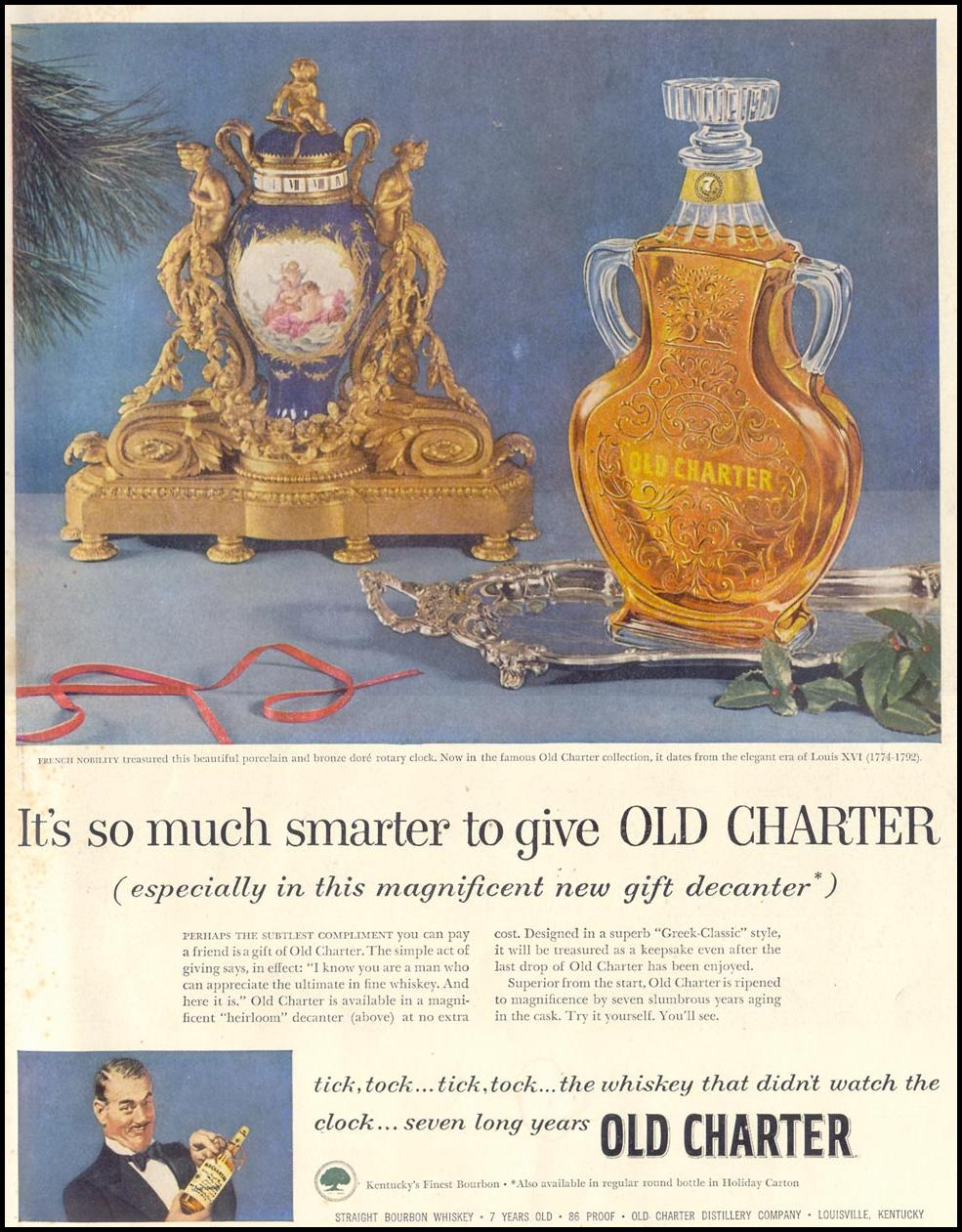 OLD CHARTER WHISKEY LIFE 11/30/1953 INSIDE BACK