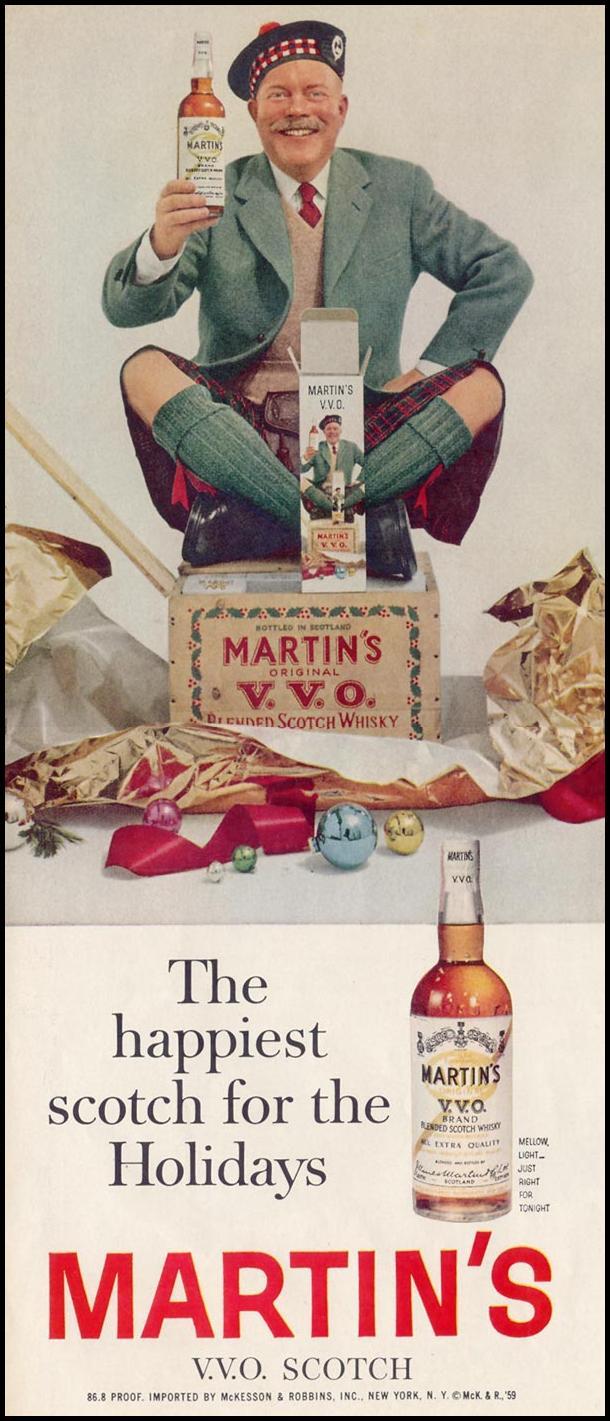 MARTIN'S V. V. O. SCOTCH LIFE 12/14/1959 p. 84
