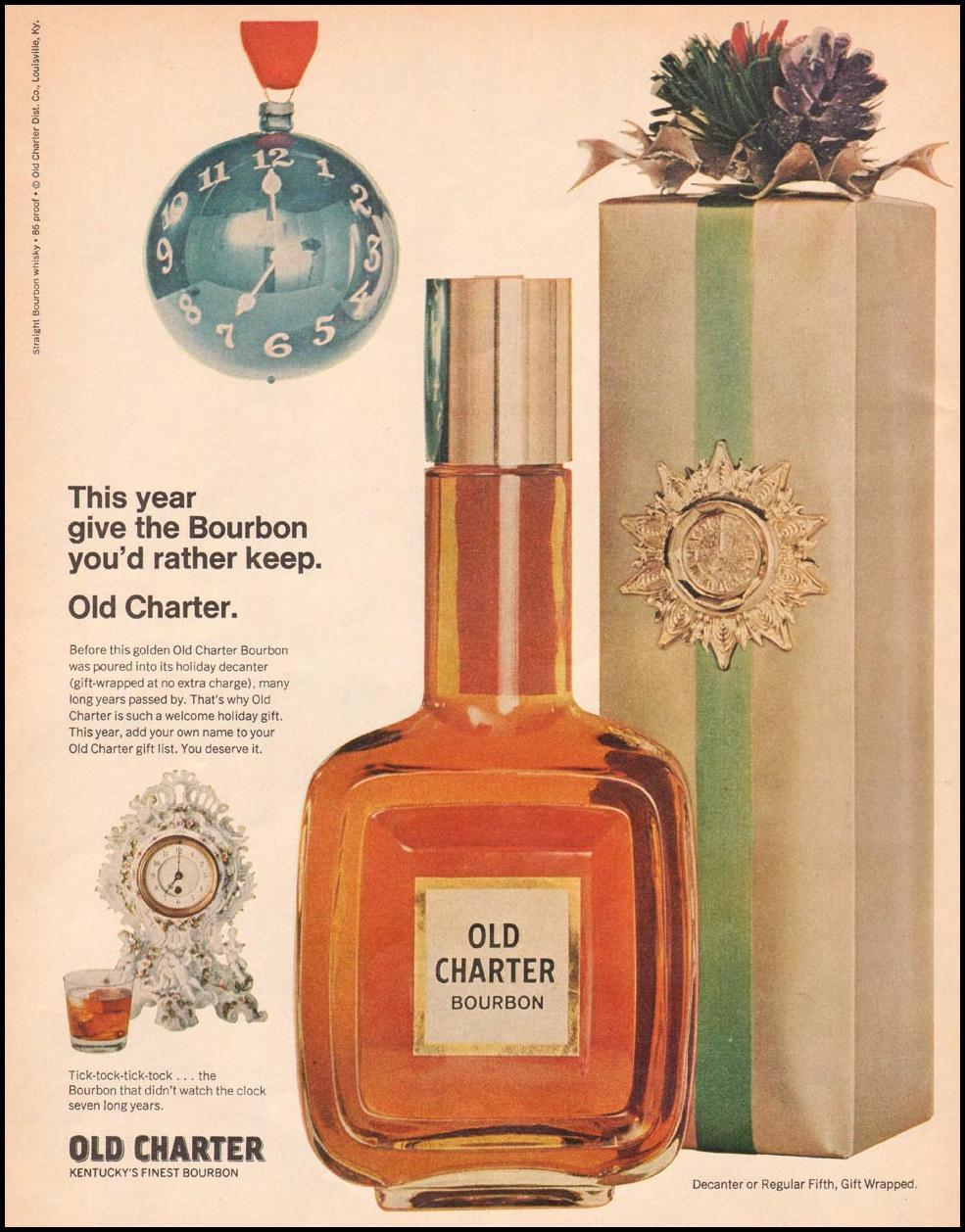 OLD CHARTER BOURBON LIFE 12/22/1967