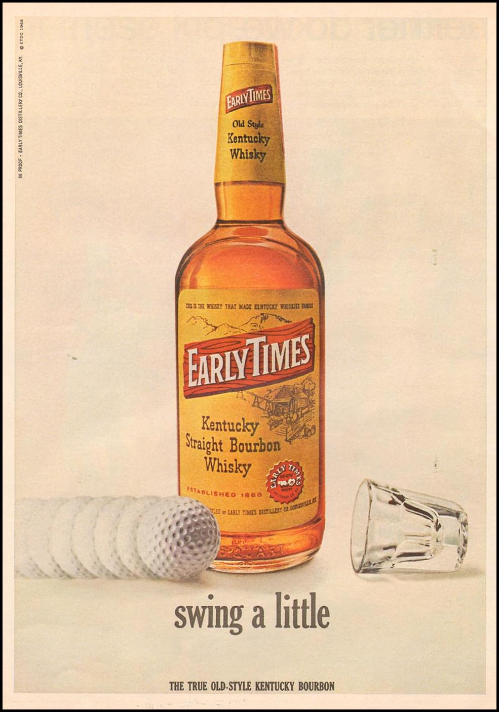 EARLY TIMES BOURBON WHISKEY NEWSWEEK 05/20/1968 p. 60