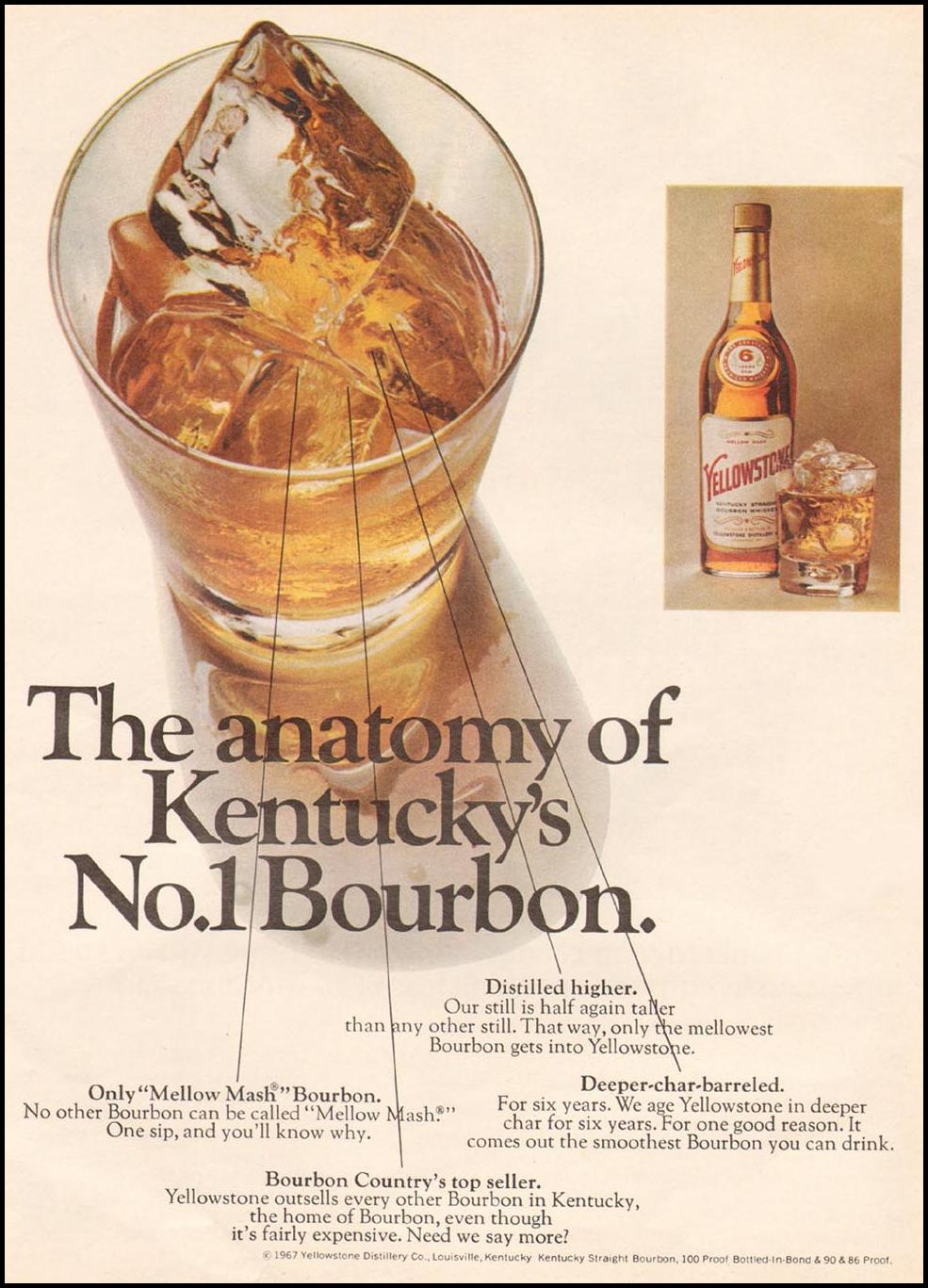 YELLOWSTONE BOURBON WHISKEY NEWSWEEK 05/20/1968