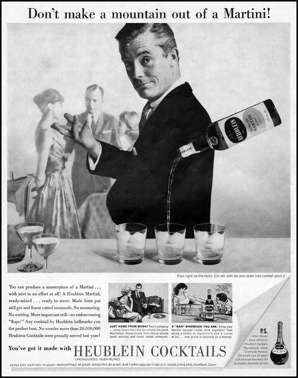 HEUBLEIN COCKTAILS SATURDAY EVENING POST 06/04/1960 p. 42
